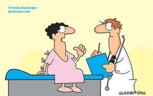 """""""U heeft duizenden ziekten moeten instuderen, dokter. Maar ik ben alleen gefocust op een oplossing voor wat mis is met MIJ. Wie van ons beiden is hierin de expert, denkt u?"""""""